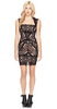 ADRIANNA PAPELL - Long Beaded Black Dress - Designer Dress hire