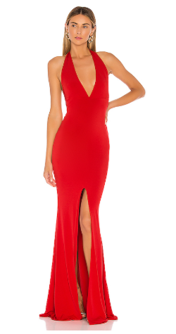 NOOKIE - Illegal Halter Gown - Designer Dress hire