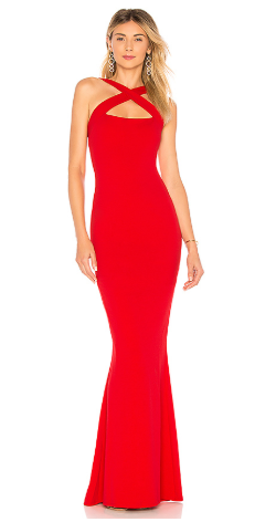 NOOKIE - Viva Red Gown - Designer Dress hire