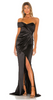 GORGEOUS COUTURE - The Bailey Maxi Black - Designer Dress hire