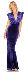 NORMA KAMALI - Rectangle Velvet Gown - Designer Dress Hire