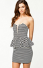 NOTION 1.3 - Peplum Striped Dress - Designer Dress hire