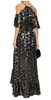 PERSEVERANCE LONDON - Ruffled Metallic Gown - Designer Dress hire
