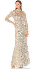 PARKER - Leandra Nude Sequin Gown - Rent Designer Dresses at Girl Meets Dress