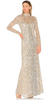 ADRIANNA PAPELL - Silvery Grey Gown - Designer Dress hire