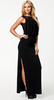 PEARL - Drape Over Dress - Designer Dress hire