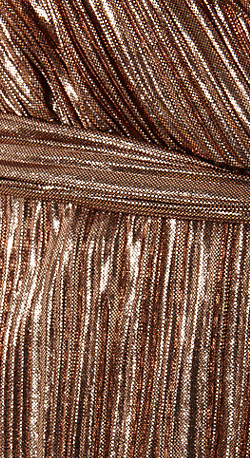 PHASE EIGHT - Metallic Anthea Gold Gown - Designer Dress hire