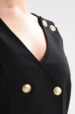 PIERRE BALMAIN - Gold Button Dress - Designer Dress hire