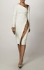 PLEIN SUD - White Cross Hem Dress - Designer Dress hire