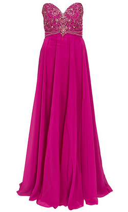 FOREVER UNIQUE - Pink Polly Gown - Designer Dress hire