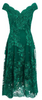 CLUB L - Flocked Fishtail Maxi Dress - Designer Dress hire
