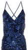 QUIZ - Blue Sequin Fishtail Gown - Designer Dress hire