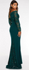 QUIZ - Green Bardot Lace Fishtail Gown - Designer Dress hire