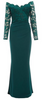CAMILLA ROSE - Volute Green Hat - Designer Dress hire