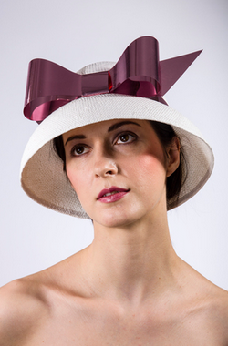 Rachel Black Millinery - Not Before Time - Designer Dress hire