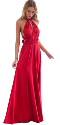 WILLOW & PEARL - Willow Multiway Red Dress - Designer Dress hire