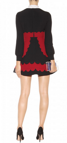 RED VALENTINO - Scalloped Layer Dress - Designer Dress hire
