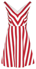 RED VALENTINO - Red White Stripe Dress - Rent Designer Dresses at Girl Meets Dress