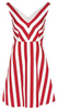 RED VALENTINO - Red White Stripe Dress - Designer Dress hire