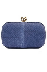 ALEXANDRA DE CURTIS - Rita Clutch Blue - Designer Dress Hire