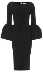 ROKSANDA - Black Cady Dress - Designer Dress Hire