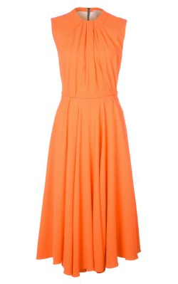 ROKSANDA ILINCIC - Orange Cocktail Dress - Designer Dress hire