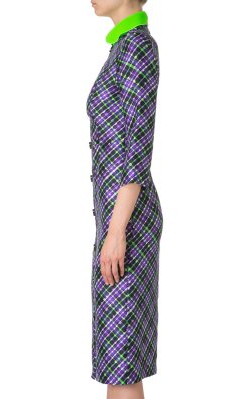 ROKSANDA ILINCIC - Checked Purple Dress - Designer Dress hire