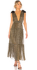 QUIZ - Nude Gold Bodycon Dress - Designer Dress hire