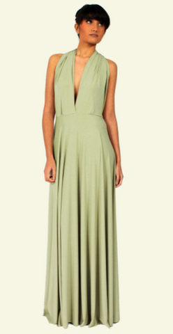 WILLOW & PEARL - Willow Multiway Sage Dress - Designer Dress hire