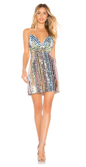SAYLOR - Tracy Sequin Rainbow Dress - Designer Dress Hire
