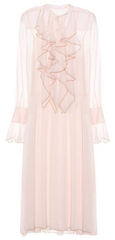SEE BY CHLOE - Crinkled Chiffon Ruffle Dress - Designer Dress Hire