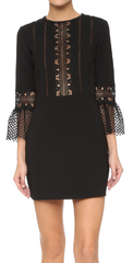 Self Portrait - Bell Sleeved Lace Dress - Rent Designer Dresses at Girl Meets Dress