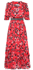 Self Portrait - Floral Printed Midi Dress - Rent Designer Dresses at Girl Meets Dress