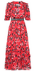 Self Portrait - Floral Red Midi Dress - Designer Dress hire
