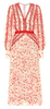QUIZ - Red Lace Knot Dress - Designer Dress hire