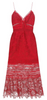 Self Portrait - Red Frilly Printed Dress - Designer Dress hire