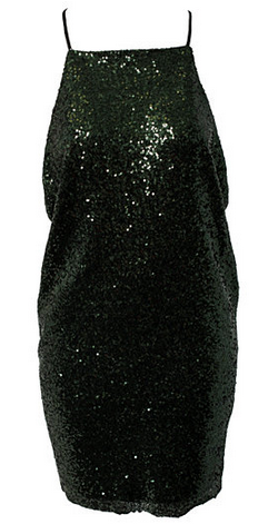 0897540018 Sequin dress by REBECCA STELLA. Thin shoulder straps and low cut back. This  dress is gorgeous and has an incredible strap detail on the back.