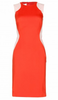 STELLA MCCARTNEY - Optical Orange Dress - Designer Dress hire