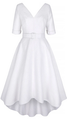 SUZANNAH - Grande White Sparkle - Designer Dress Hire