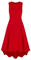 SUZANNAH - Showstopper Red Dress - Designer Dress Hire