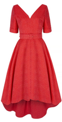 SUZANNAH - Grande Red Berry Sparkle - Designer Dress Hire