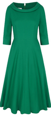 SUZANNAH - Emerald Wave Roll Scoop Dress - Designer Dress Hire
