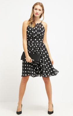 SWING - Spotted Black Dress - Designer Dress hire