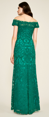 TADASHI SHOJI - Off Shoulder Lace Gown - Designer Dress hire