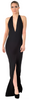 BUTTER BY NADIA - Jersey Gown Black - Designer Dress hire
