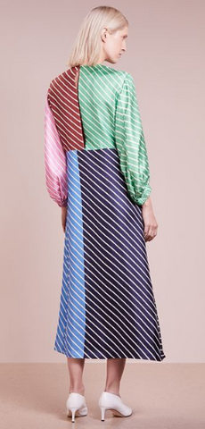 TIBI - Delfina Stripe Maxi Dress - Designer Dress hire