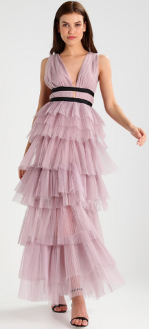 TRUE DECADENCE - Lilac Ruffle Cocktail Dress - Designer Dress hire