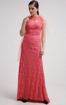 UNIQUE - Paula Melon Gown - Designer Dress hire