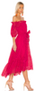 ULLA JOHNSON - Hollie Fuchsia Dress - Designer Dress hire