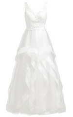 UNIQUE - Mackayla White Wedding Gown - Designer Dress Hire